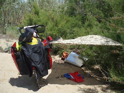 Solo bicycle travel tour around Peloponnesos Greece   19 days 1000  km