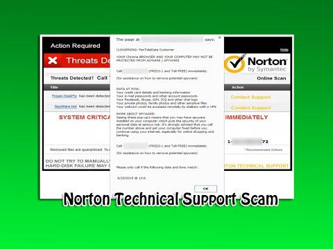 Norton Tech Support Scam