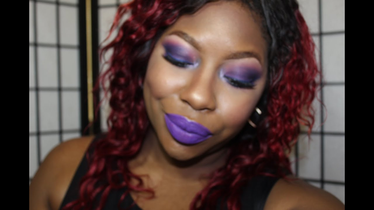 Purple Overload | Makeup Tutorial Ft Pretty Zombie Cosmetics | NYX Face Awards 2014 Entry - YouTube