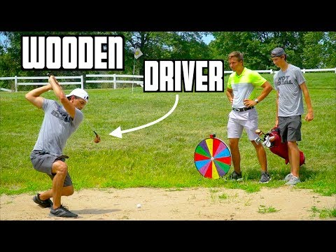 Random Wooden Golf Club Challenge | Wheel Of Not Ideal