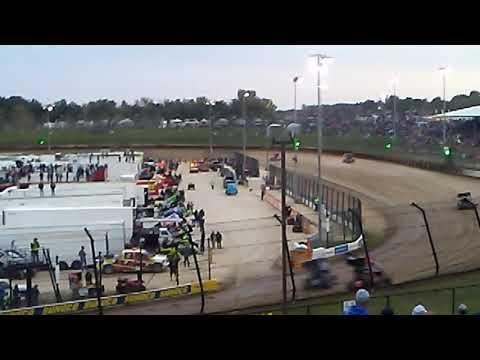 Allstar sprint cars Eldora speedway heat laps 4 crown series