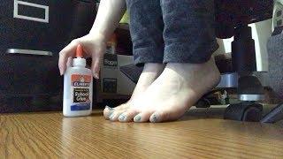 ASMR Feet Sticky Sounds