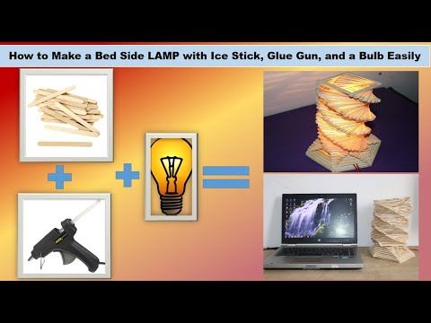 How to Make Popsicle Stick Lamp | Popsicle Stick DIY | 5 MINUTE CRAFTS VIDEOS
