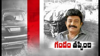 Rajasekhar Escapes With A Minor Injury In A Road Accident