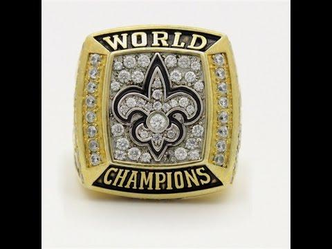 2009 Super Bowl XLIV New Orleans Saints Championship Ring