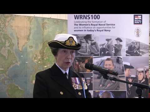 HRH The Princess Royal officially launches the WRNS100 Centenary