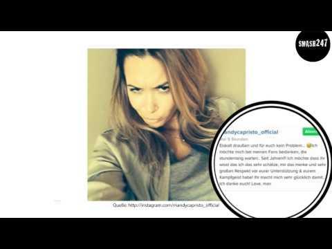 Mandy Capristo grüßt Backstage von Markus Lanz