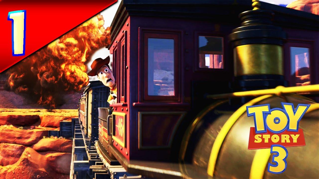 ef18c4f32fb10 toy story 3 capitulo 1 el tren en llamas  ZurdoYT - YouTube