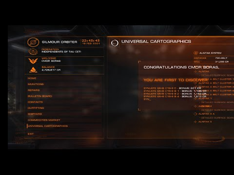 Elite: Dangerous Exploration results