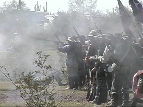 Civil War re-enactment at Picacho Peak in Arizona