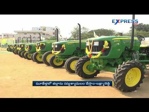 MLA Laxma Reddy distributed Tractors on 50% subsidy at Mahbubnagar