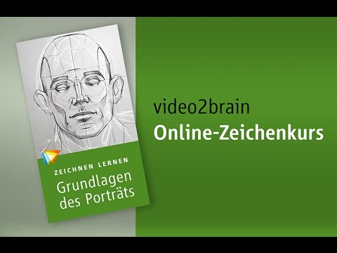 Zeichnen lernen Porträt Tutorial Trailer video2brain com - YouTube