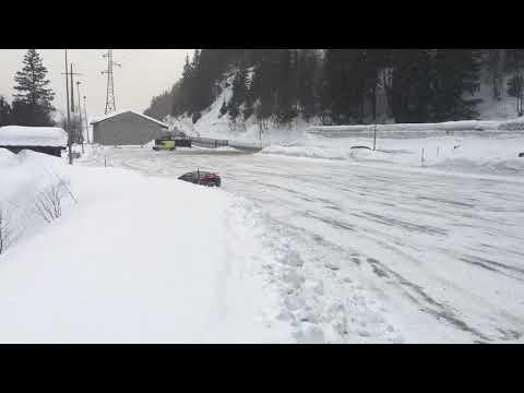 Lamborghini Huracan performante SNOW launch control terrific sound!