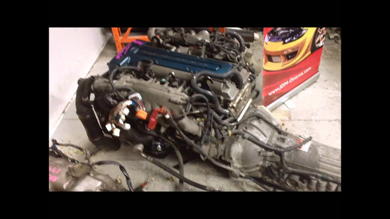 hight resolution of jdm toyota 2jzgte twin turbo engine transmission ecu supra 2jz swap aristo v300 lexus gs300 youtube