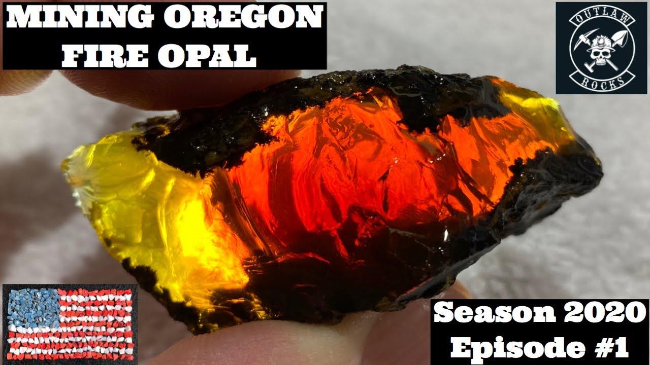 Mining Oregon Fire Opal Season 2020 Episode #1