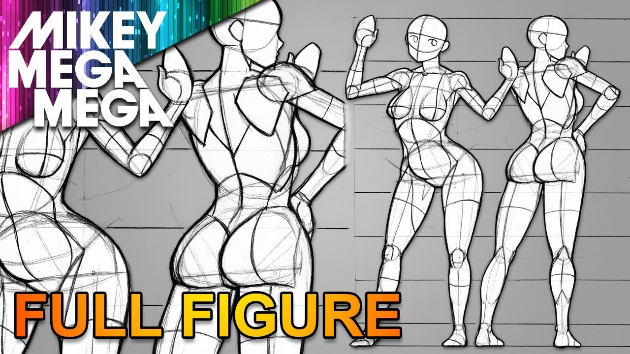 Drawing full body proportions for women in anime manga