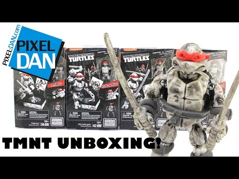 Teenage Mutant Ninja Turtles MegaBloks Eastman & Laird Mirage Comics Figures Video Review