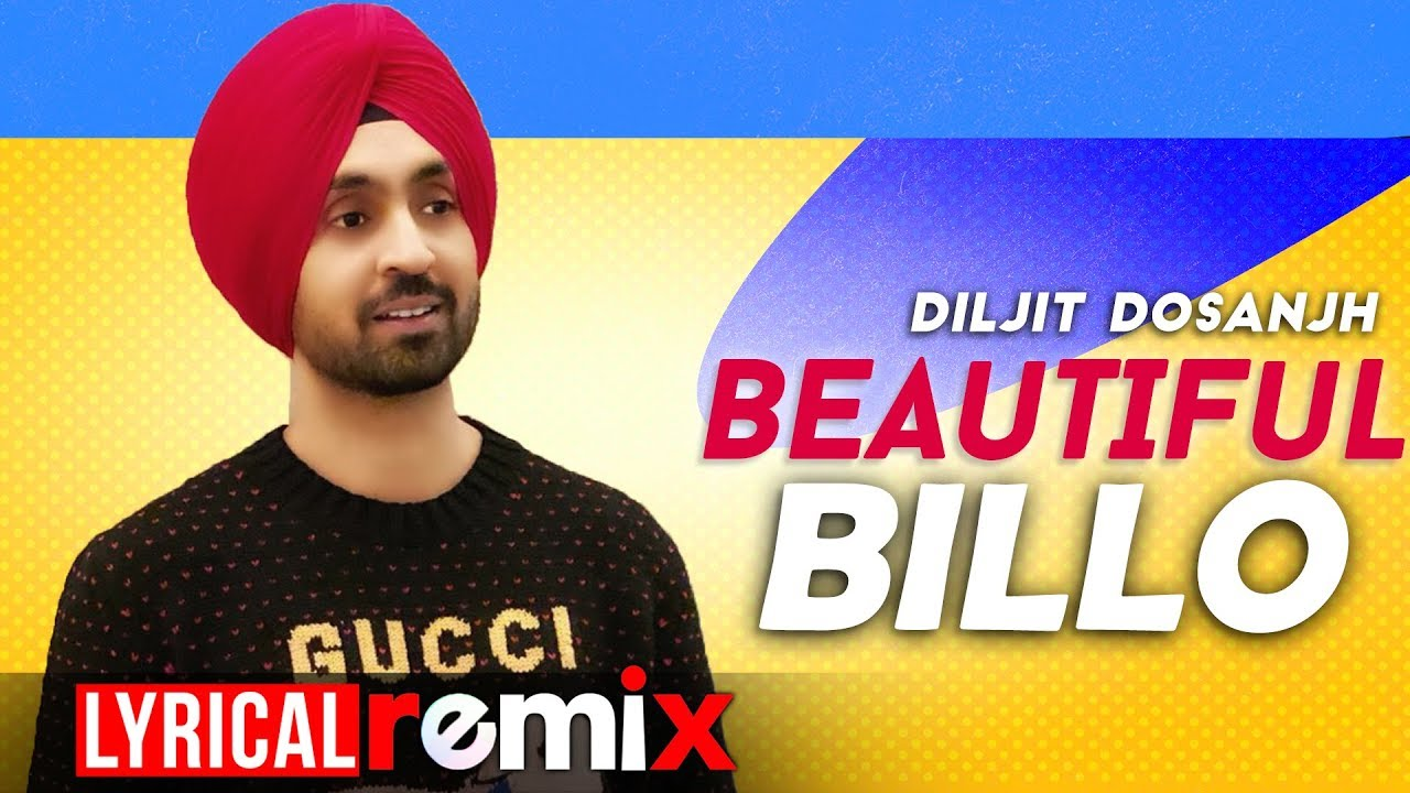 Beautiful Billo (Lyrical Remix)   Diljit Dosanjh   Latest Punjabi Songs 2020   Speed Records