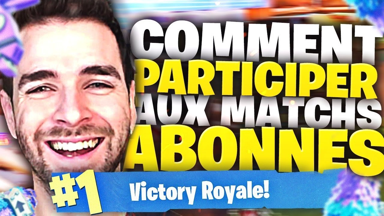 TOP1🔥 COMMENT PARTICIPER AUX TOURNOI DES ABONNÉS FORTNITE! Top1 Battle Royale