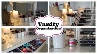 Vanity Organization Featuring My Ikea Malm Dressing Table