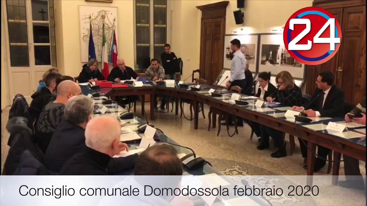Consiglio comunale Domodossola febbraio 2020