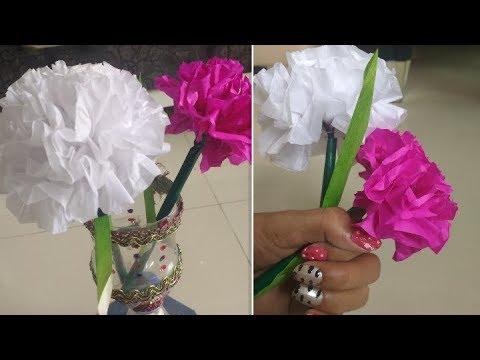 DIY Paper Craft    How To Make Round Tissue paper Flower🌷
