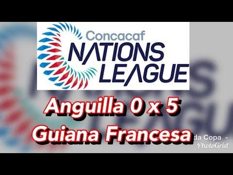 Anguilla 0 x 5 Guiana Francesa (Nations League)