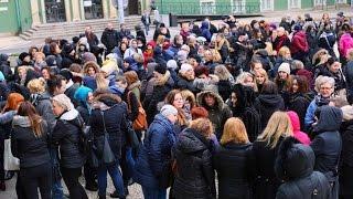 Protest pracowników MOPR-u - Szczecin