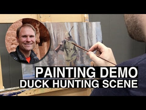 Duck Hunting Scene Painting Demo