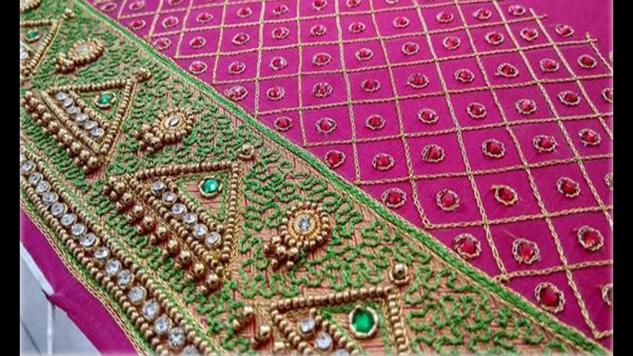 68dd574a34378 Very Attractive Embroidery Work Blouse Sleeve Designs For Silk Border Saree