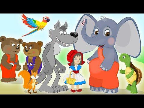 СБОРНИК ДОБРЫХ СКАЗОК. МУЛЬТИКИ. Красная Шапочка, Два Жадных Медвежонка, Попугай и Черепаха и другие