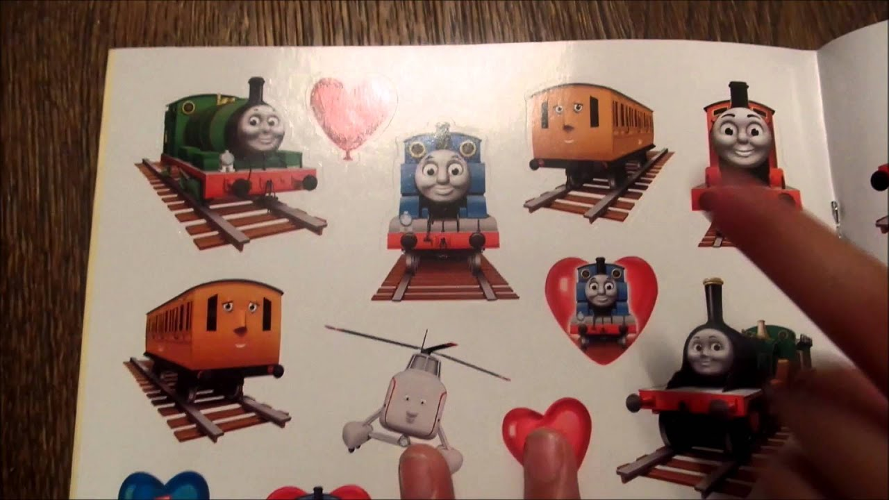 THOMAS AND FRIENDS VALENTINE COLORING AND STICKERS BOOK