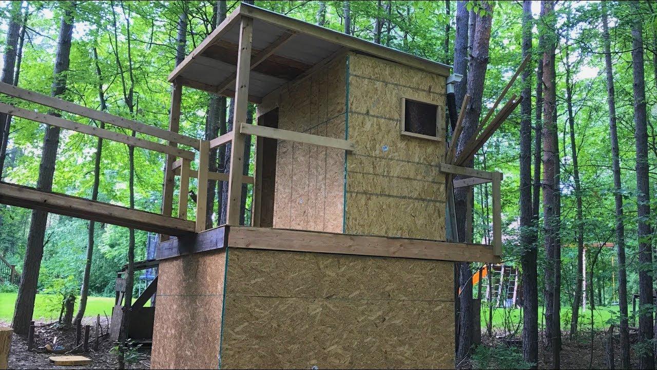 Backyard Fort Construction - YouTube