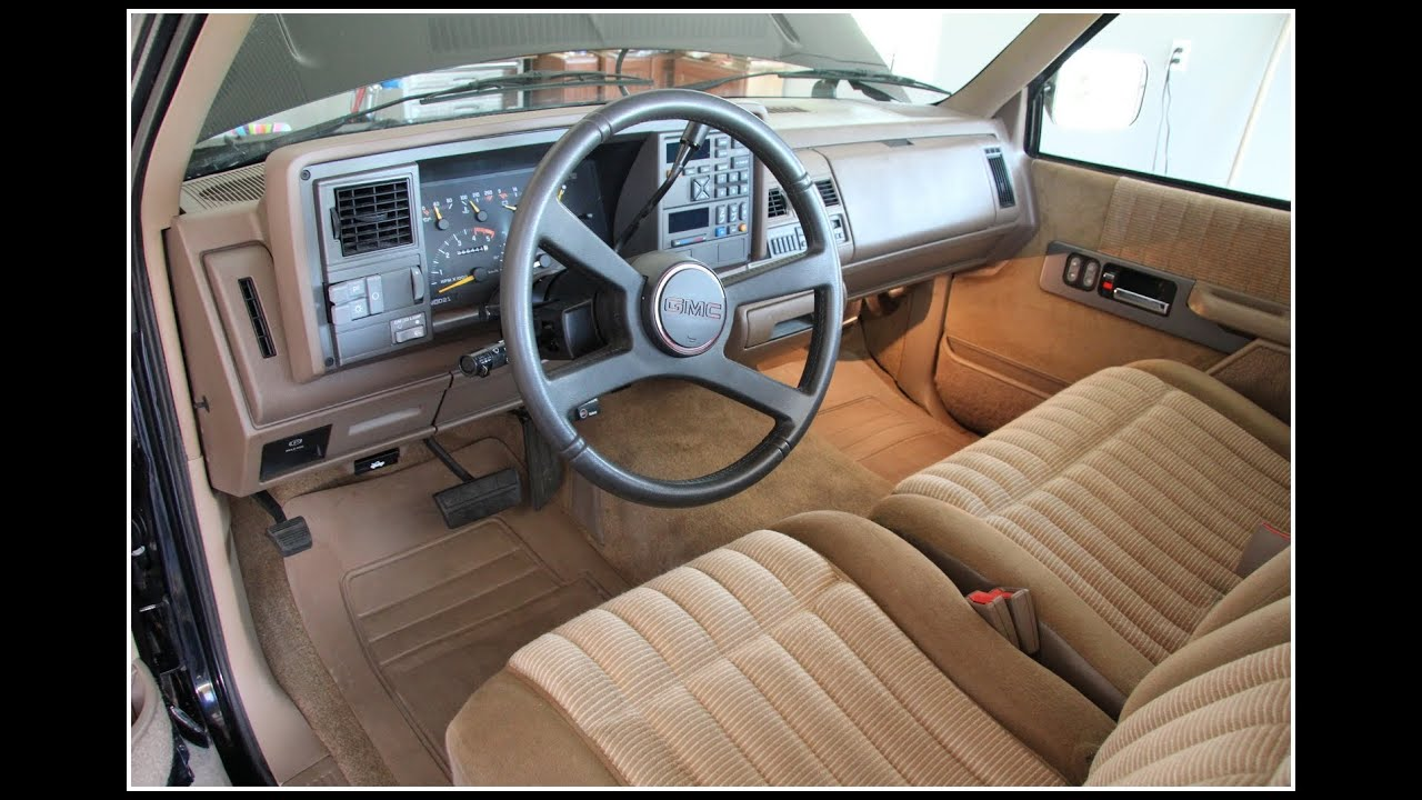 1993 GMC Sierra SLE C1500 Shortbed Interior - YouTube