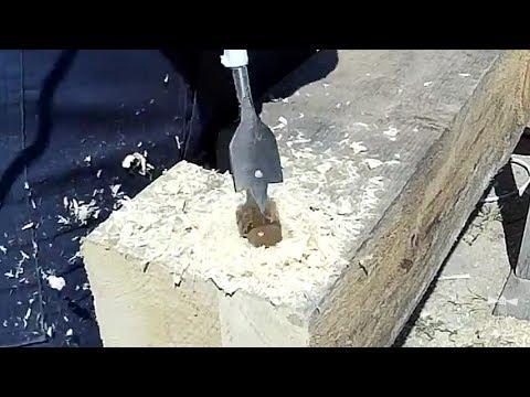 Крепление бруса на короткие шканты (нагели) | Хочу дом из бруса смотреть видео онлайн