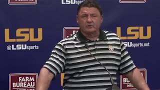 LSU HC Ed Orgeron Talks Preparations for No. 7 Auburn | FULL PRESSER 9.10.18