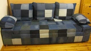 Diy Jeans Sofa. Build A Simple, Comfortable Jeans Sofa With Simple Tools And A Little Free Time