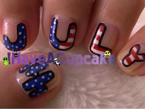 Fourth of july nail art youtube fourth of july nail art prinsesfo Gallery