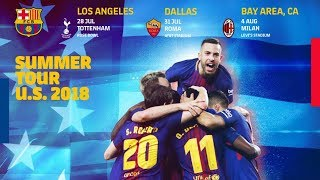Tottenham hotspur, ac milan and as roma will be fc barcelona's preseason opponents in this summer's north american international champions cup (icc), a compe...