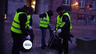 Ahmadi Muslims in Denmark begin New Years with Street Clean Up