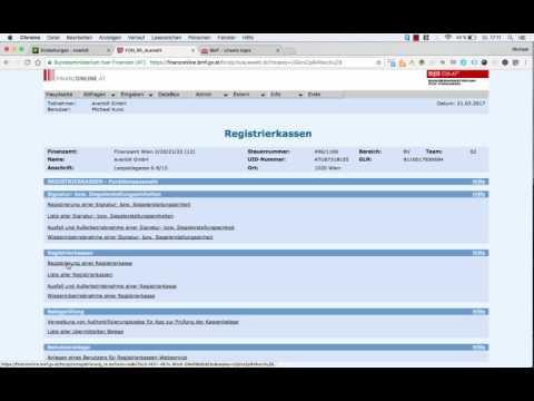 Die everbill Registrierkassa bei Finanz Online anmelden