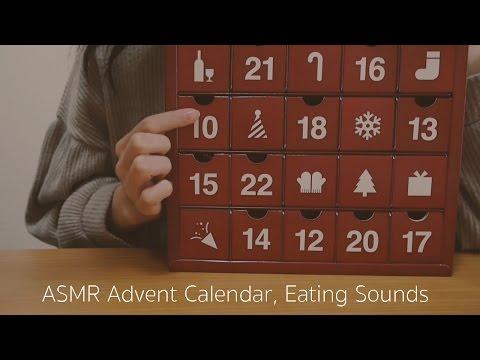 (ENG SUB)[ASMR] Twitterまとめ、囁き声でクリスマスカウントダウン!咀嚼音 Advent Calendar, Eating Sounds, Whispering