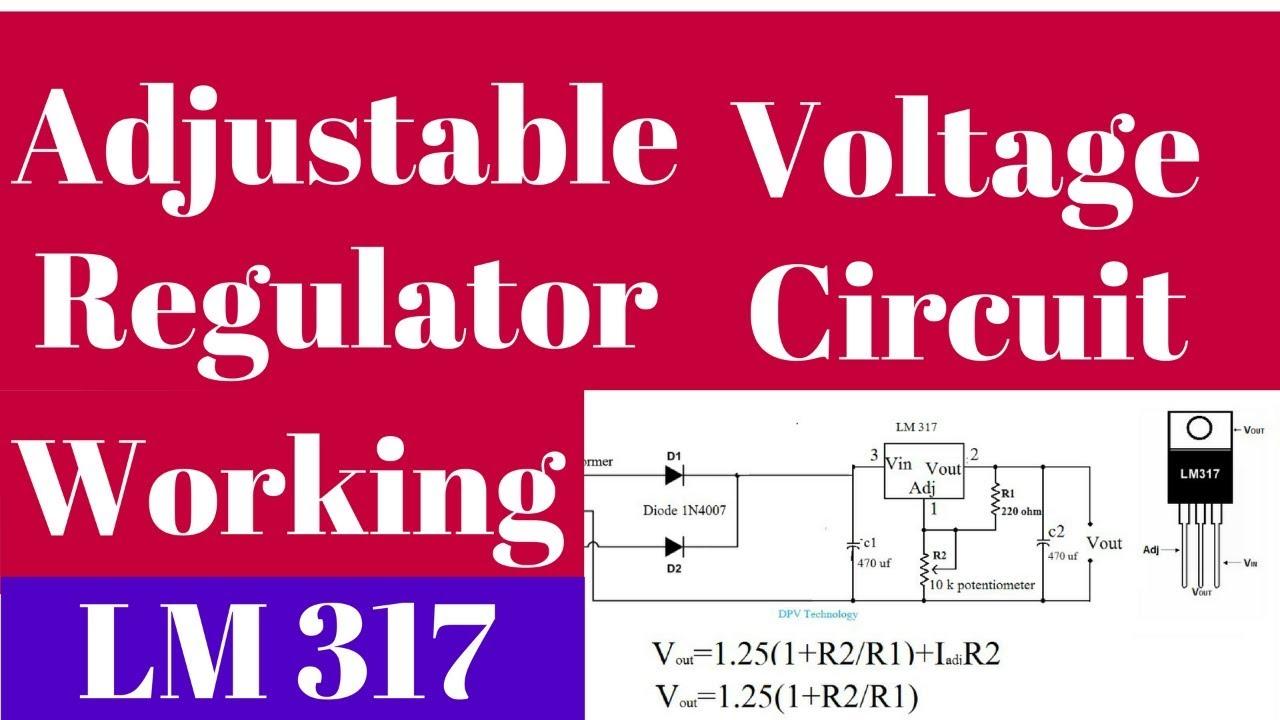 LM317 adjustable voltage regulator tutorial