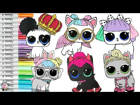 Lol Surprise Pets Coloring Book Compilation Pupsta Hop Hop Lol