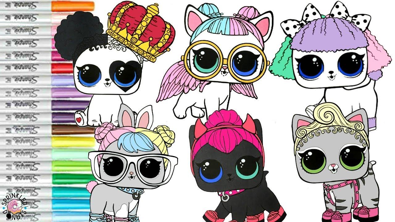 Lol Surprise Pets Coloring Book Compilation Pupsta Hop Hop Lol Surprise Dolls Confetti Pop Youtube