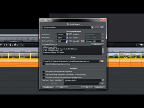 [TUTORIAL] Magix Videoschnitt Software - Film Speichern / Exportieren - Video Pro X / Video Deluxe