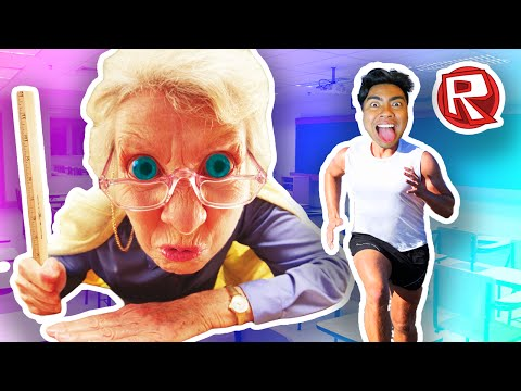 ESCAPING THE TEACHER! | Roblox
