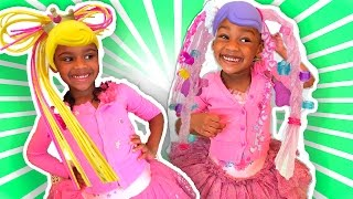 Toy Challenge for Kids Betty Spaghetty - Doll Dress-up in Real Life!