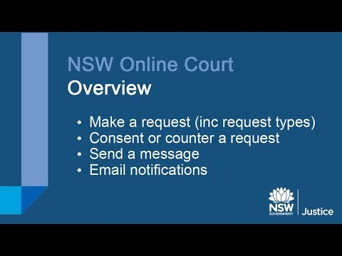 NSW Online Court Overview