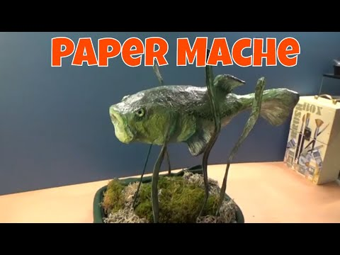 How To Make Paper Mache Animals - Bass Fish